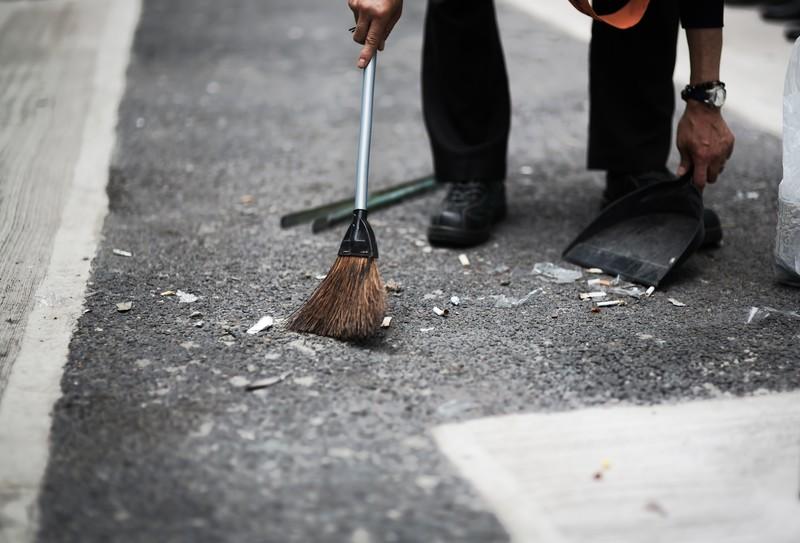 工事現場 掃除
