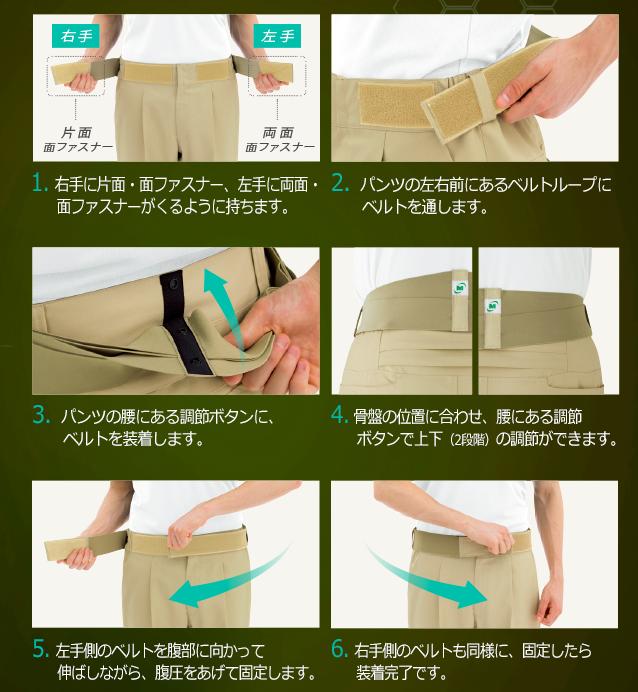 楽腰パンツの使い方