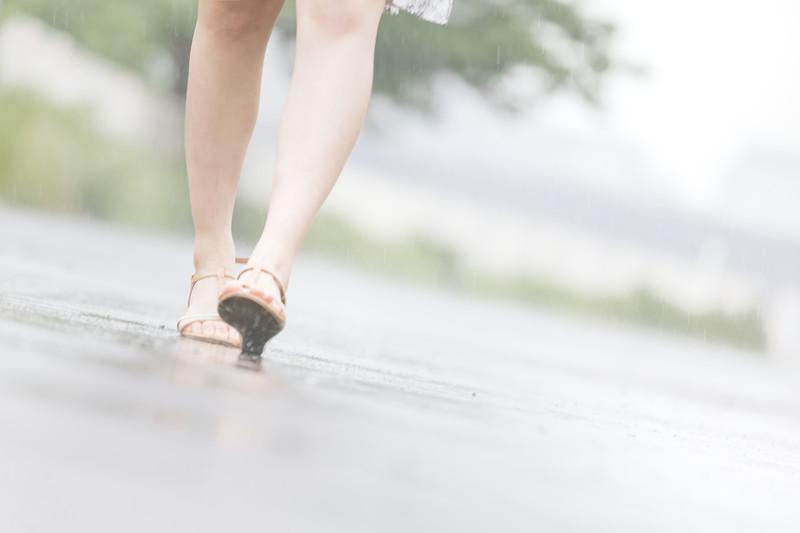雨の日 滑らない靴
