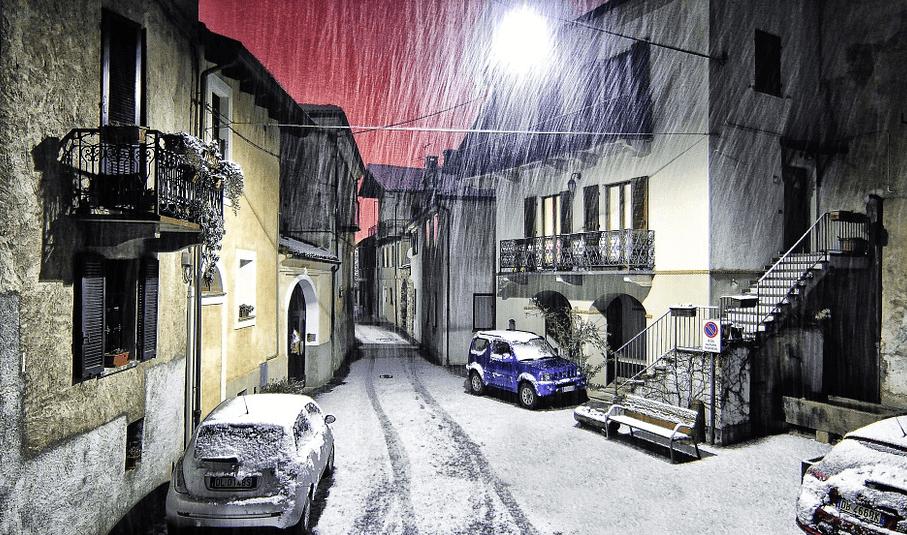 冬に降る雪