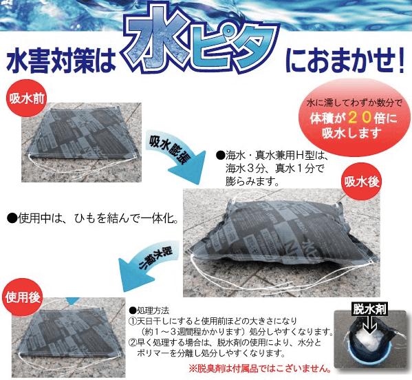 台風・水害対策用品 吸水ポリマー土のう